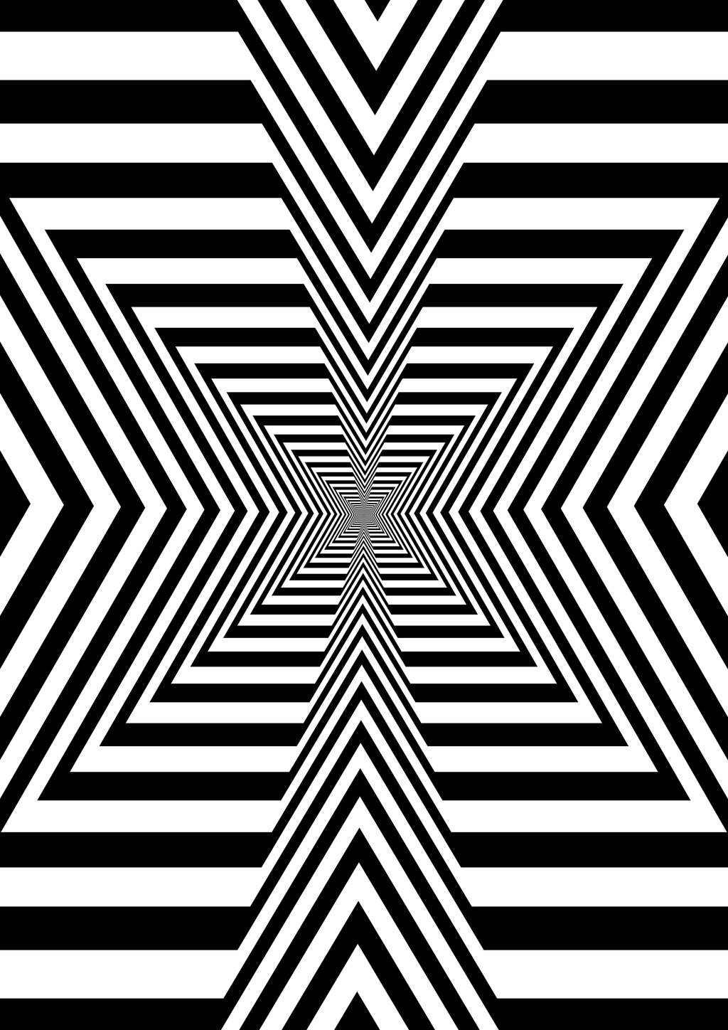 Trippy Black And White Design
