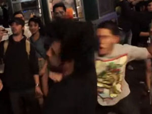 Drunk Bully Gets Knocked OUT!